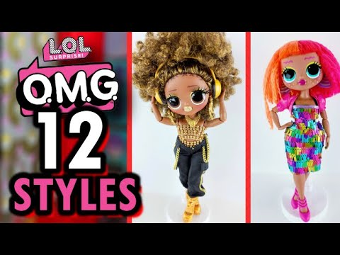 LOL Surprise OMG Doll Fashions - 12 More DIY Style Pack Fab Looks!