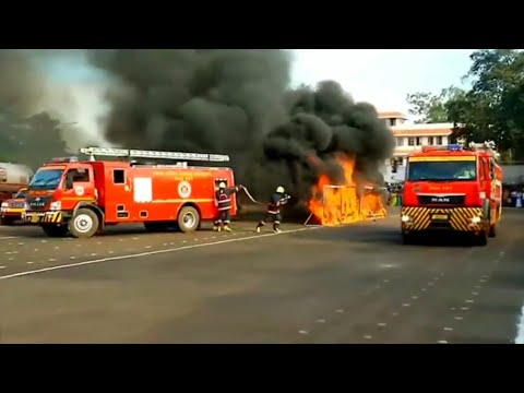 Omg!! instant action by fire forces | Kerala fire department quick Response | Fire Fighter