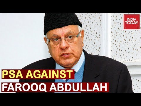 Farooq Abdullah Detained Under Stringent Public Safety Act