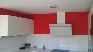 Gambar cover Pintar Paredes en plastico Blanco y Esmalte color Rojo - Pinturas Urbano