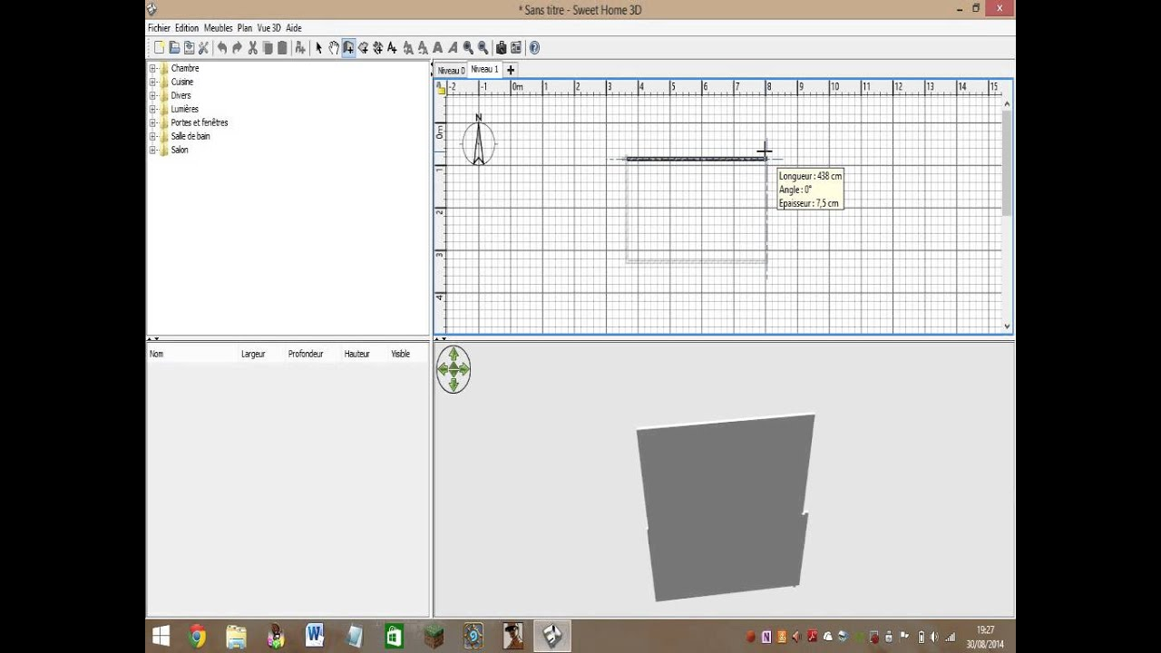 Comment faire des tages dans sweet home 3d youtube - Faire des plans 3d ...