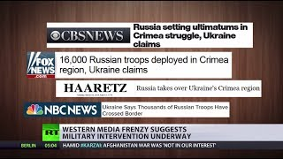 War Reports Western Media Frenzy Suggests Russia Invades Ukraine