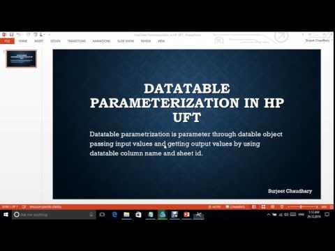 UFT Datatable Parametrization