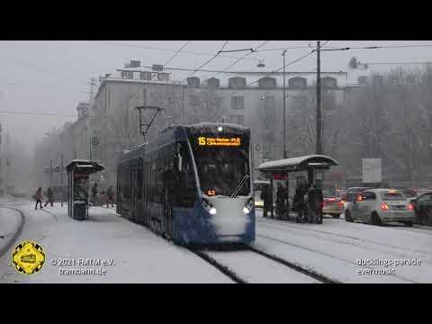 Schneehaserl-Contest im Münchner Trambahnwinter 2021