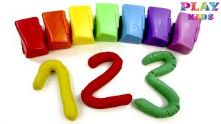 Learn to count with Kinetic Sand | Counting numbers 0 to 10 | 123 Learning for kids