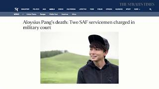 THE BIG STORY: Aloysius Pang's death: 2 servicemen charged | The Straits Times (31/07/19)