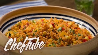 How To Make Spicy Couscous Salad - Recipe In Description