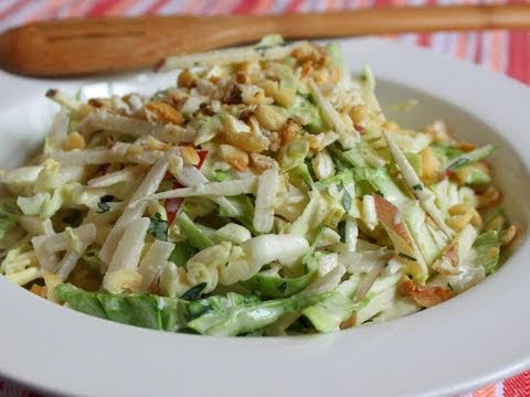 Apple Jicama Coleslaw Recipe - Spicy Apple Jicama Slaw ...
