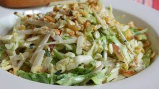 Apple Jicama Coleslaw Recipe - Spicy Apple Jicama Slaw
