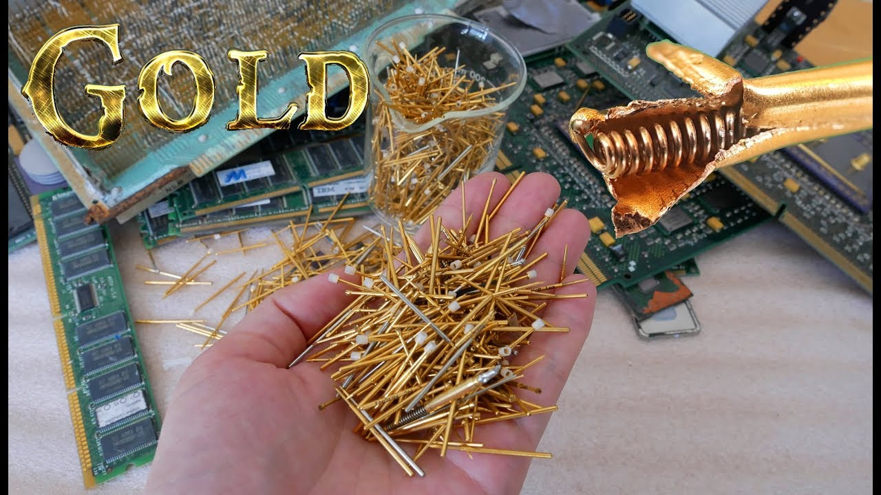I Will Dissection See Inside Gold Plated Connector Pins Electronic Circuit Board For Extraction