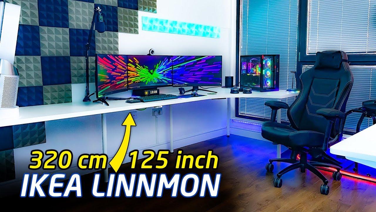 the ultimate ikea linnmon desk setup