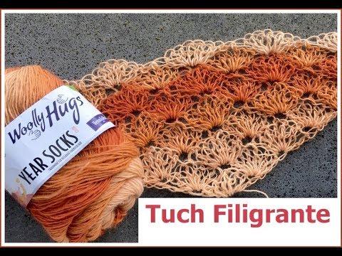 Tuch Filigrante Einfach Häkeln Schlingen Muster Look Muster