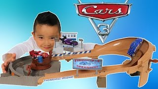 NEW Disney Cars 3 Toys Unboxing Thomasville Racing Speedway Playset With Ckn Toys