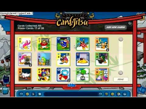 Club Penguin Unlocking & Showing Card Jitsu Cards!