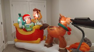*new* Gemmy 2019 8ft Toy Story Sleigh Airblown Inflatable Review