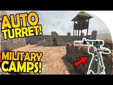 AUTO TURRET + LOOTING MILITARY CAMPS -OUR OWN CEMENT MIXER - 7 Days to Die Alpha 16 Gameplay Part 38