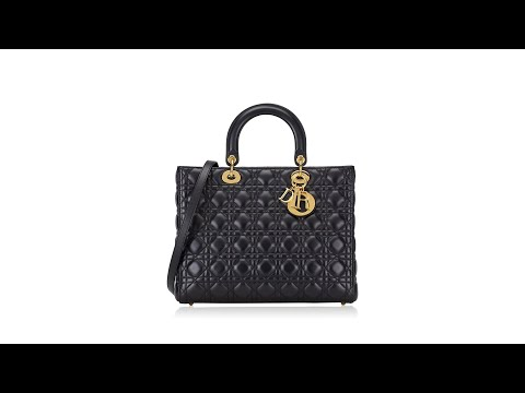Christian Dior Cannage Large Lady Dior Black