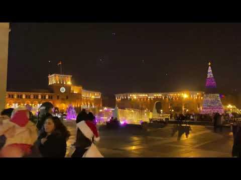 Armenia Yerevan Central Square / Армения Ереван Центральная площадь / Hraparak 02.01.2020