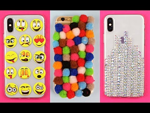 DIY Phone Case Life Hacks!  Phone DIY Projects & Popsocket Crafts!