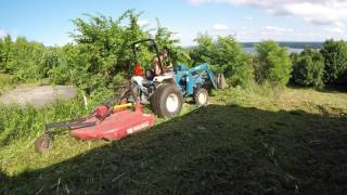 Mowing a hill side