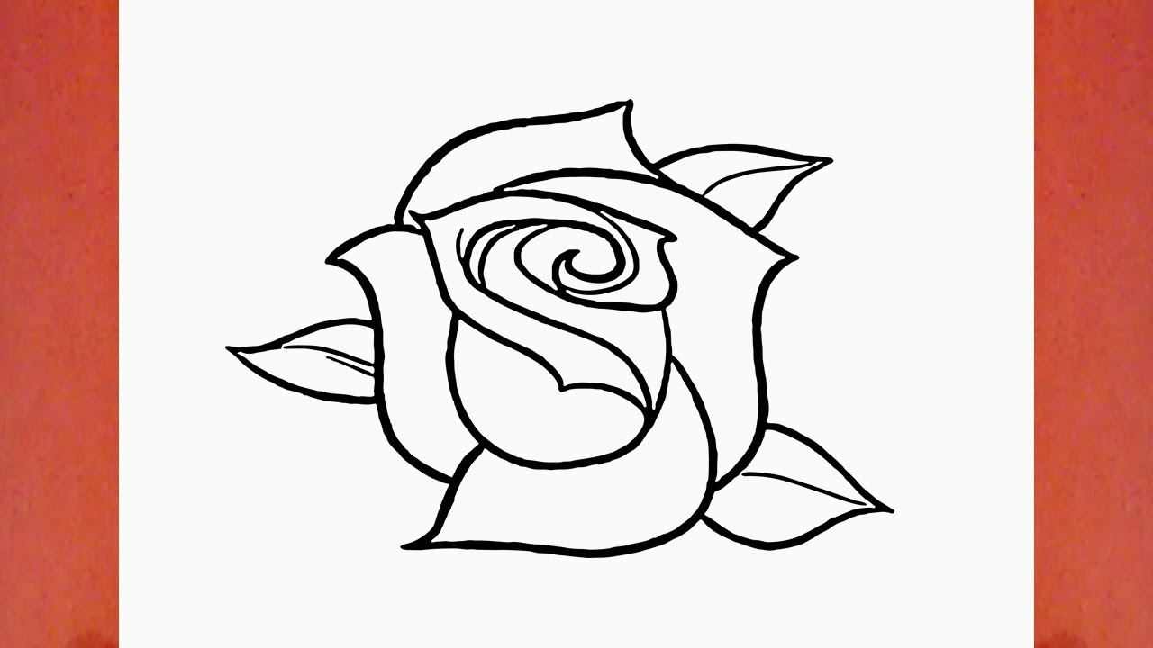 Como dibujar una rosa flor youtube - Como secar una rosa ...