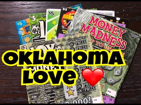 $22 Mix of Oklahoma Lottery Scratch Off Tickets