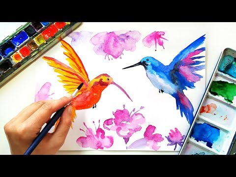 easy-watercolor-birds-painting-for-beginners-🐦---loose-watercolor-techniques-\-drawing-tutorial