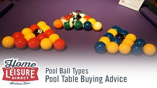 What are the Differences Between Certain Pool and Snooker Balls - Pool Table Buying Advice