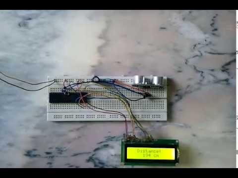 hc sr04 ultrasonic sensor interfacing with pic18f4550