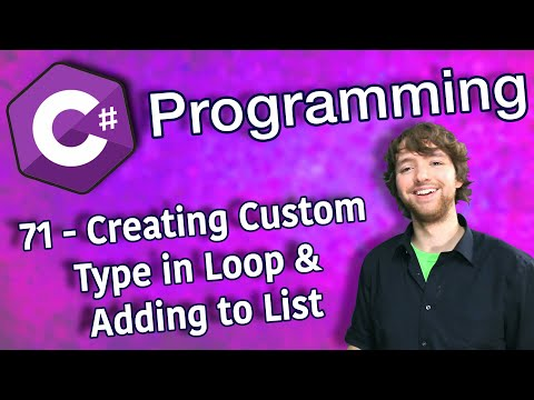 C# Programming Tutorial 71 - Creating Custom Type in Loop and Adding to List thumbnail