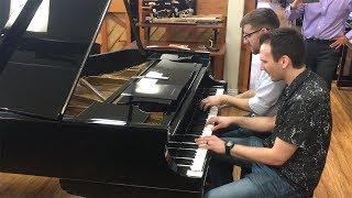 When Kyle Landry & Jonny May bump into each other at piano store, this happens...