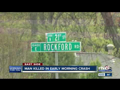 Man killed in early morning crash in Indianapolis