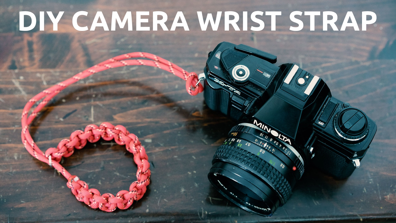 Diy paracord camera wrist strap extremely easy and strong for Diy hammock straps paracord