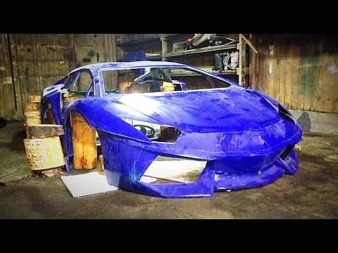 Replica Lamborghini Aventador / Строим спорт-кар в Гараже!
