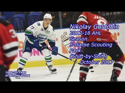 Nikolay Goldobin: 2017-18 Five-Game Shift-By-Shift Scouting Pack [AHL, Utica Comets]