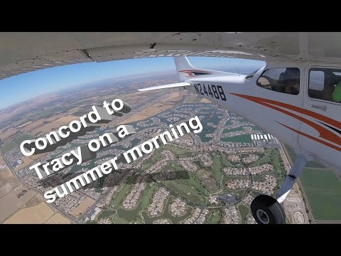 First flight to Tracy, CA (KTCY) as a private pilot...(with ATC)