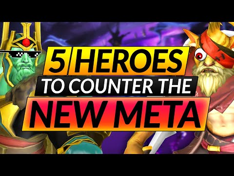 Top 5 BROKEN Heroes that COUNTER EVERYTHING in the NEW META - Drafting Tips - Dota 2 Guide