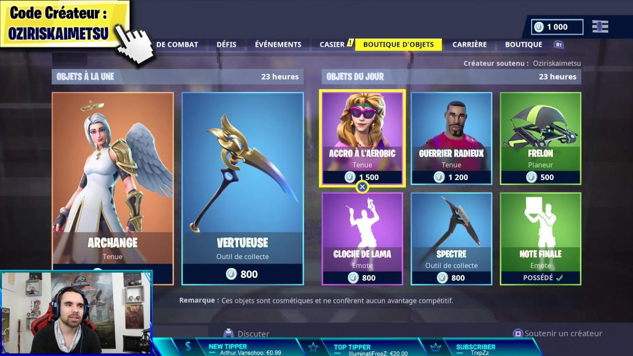 boutique fortnite 11 janvier 2019  item shop january 11