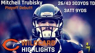 Mitchell Trubisky Wild Card Highlights   Playoff Debut 01.06.2019
