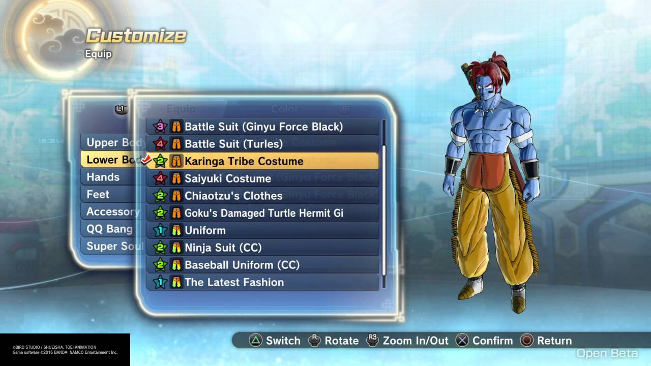 Xenoverse  Clothing Set Build
