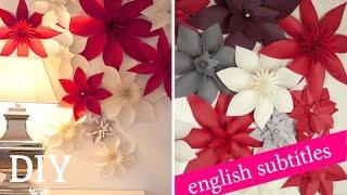 Weihnachtsdeko basteln - Papierblüten Tutorial / christmas flower How-to  Deko Kitchen