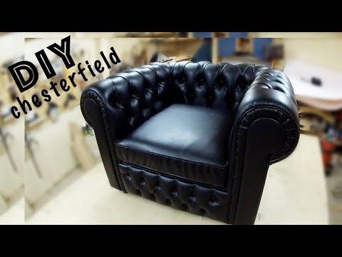 Изготовление кресла Chesterfield