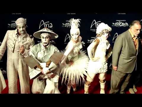 ZARKANA Cirque du Soleil Premiere Aria Las Vegas Red Carpet 1 11-9-12
