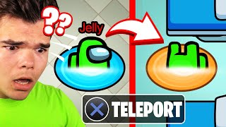 TELEPORTING In AMONG US Using PORTALS!