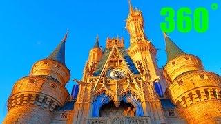 Touching Cinderella's Castle 360˚ 4k Magic Kingdom, Walt Disney World
