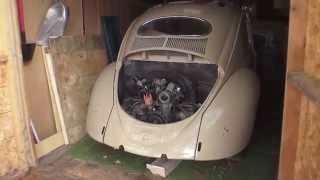 Classic VW BuGs Garage Barn Find 1954 Oval Window Ragtop Vintage Beetle