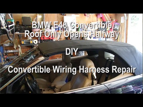 bmw e46 convertible top stops halfway down wiring repair diy bmw e46 convertible top stops halfway down wiring repair diy