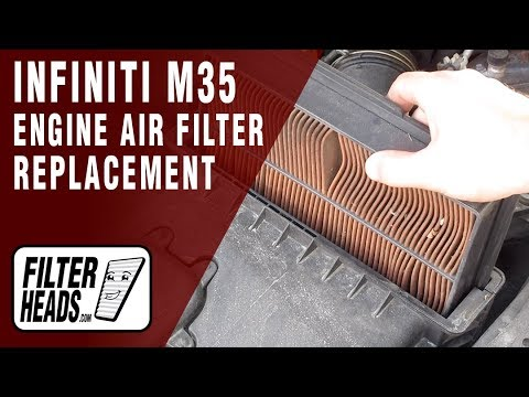 How to Replace Engine Air Filter 2007 Infiniti M35 3.5L V6