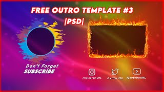 FREE YOUTUBE OUTRO TEMPLATE [PSD] | Link In Description