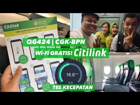 Baru! WiFi Gratis CITILINK QG424 Jakarta Ke Balikpapan + Cabin CREW SERU!